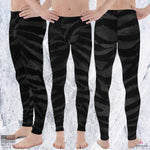 Boss Black Tiger Stripe Men's Yoga Pants Running Leggings & Tights-Made in USA/Europe - Heidi Kimura Art LLC