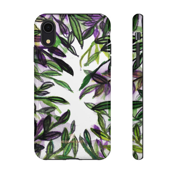 Tropical Leave Print Tough Cases, Designer Phone Case-Made in USA-Phone Case-Printify-iPhone XR-Glossy-Heidi Kimura Art LLC