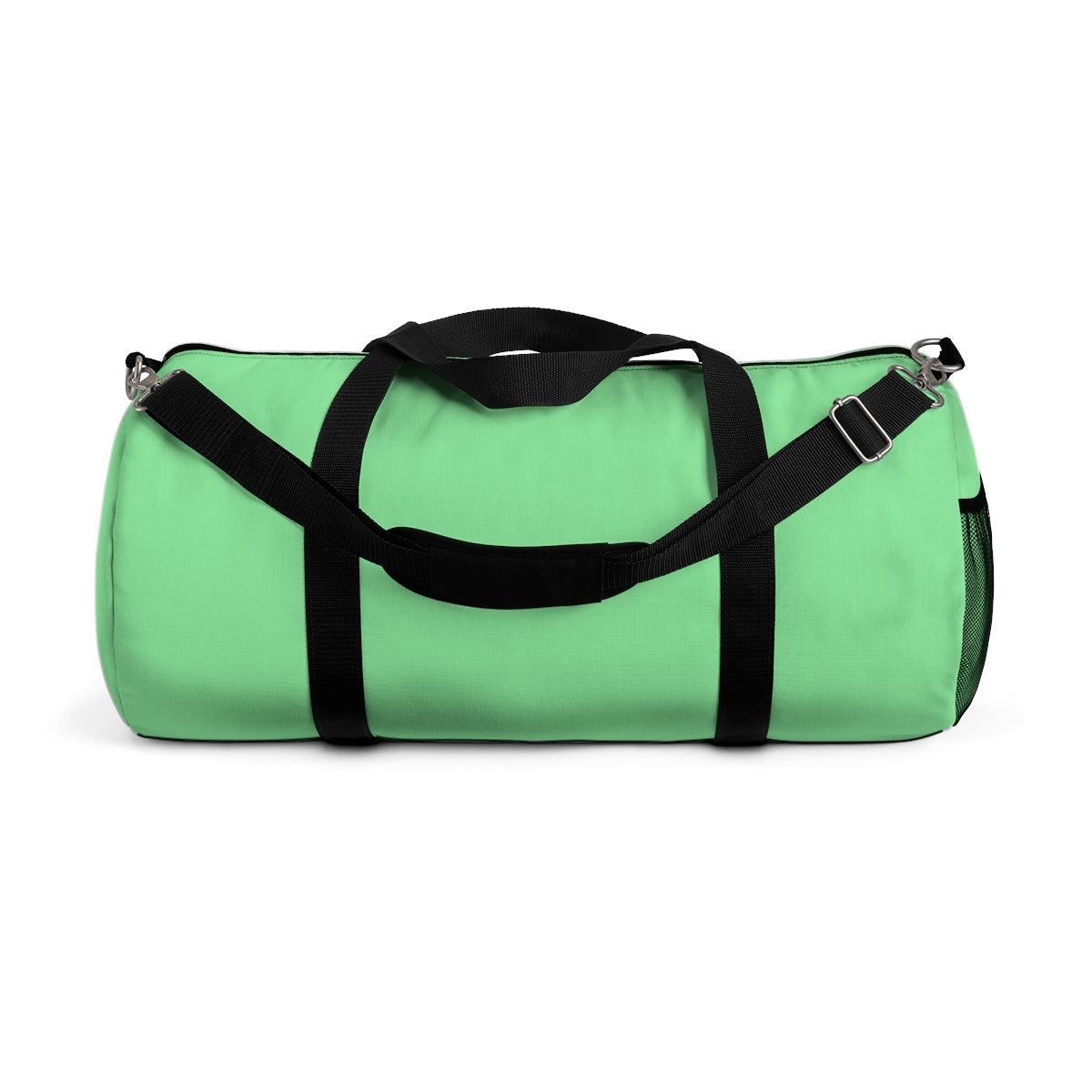 Pastel Mint Green Solid Color All Day Small Or Large Size Duffel Bag, Made in USA-Duffel Bag-Small-Heidi Kimura Art LLC