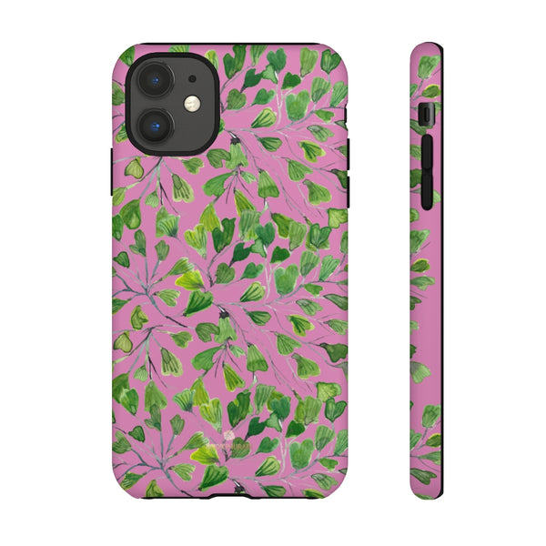 Blue Maidenhair Fern Tough Cases, Green Leaf Print Phone Case-Made in USA-Phone Case-Printify-iPhone 11-Matte-Heidi Kimura Art LLC