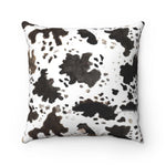 Cow Print 100% Polyester Spun Polyester Square Pillow Case With Concealed Zipper - Heidi Kimura Art LLC