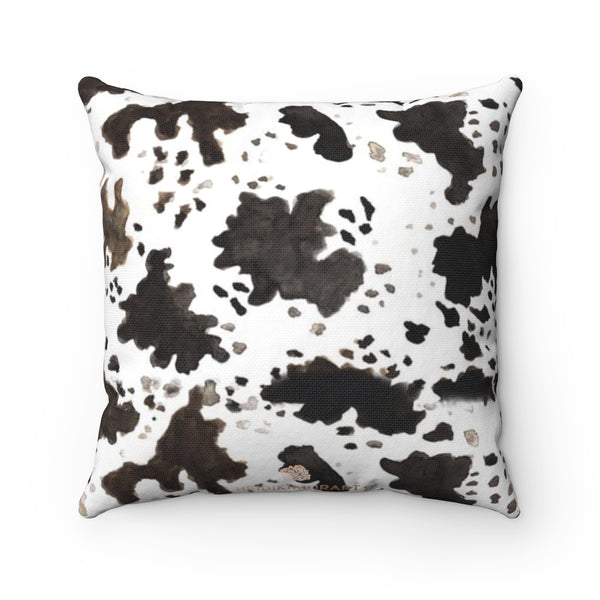 Tanaka Cow Print 100% Polyester Spun Polyester Square Pillow Case w/ Concealed Zipper,Pillow Not Included, Made in USA,Cow Pillow Case Cover, 14x14, 16x16, 18x18, 20x20 inches  Tanaka Cow Print 100% Polyester Spun Polyester Square Pillow Case With Concealed Zipper, Pillow Not Included, Made in USA