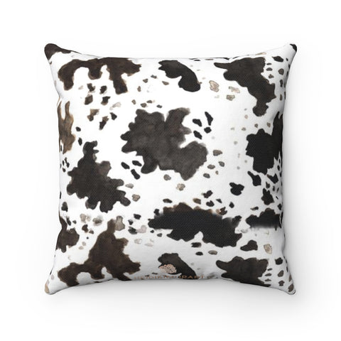 Cow Print 100% Polyester Spun Polyester Square Pillow Case With Concealed Zipper-Pillow Case Only-14x14-Heidi Kimura Art LLC