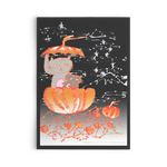 Pumpkin Kittens For Fall, Flat Greeting Post Cards, Made in USA, Sets of 10pcs, 30pcs, 50pcs