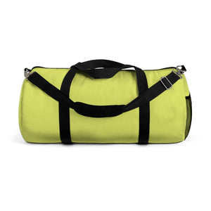Light Yellow Solid Color All Day Small Or Large Size Duffel Bag, Made in USA-Duffel Bag-Small-Heidi Kimura Art LLC