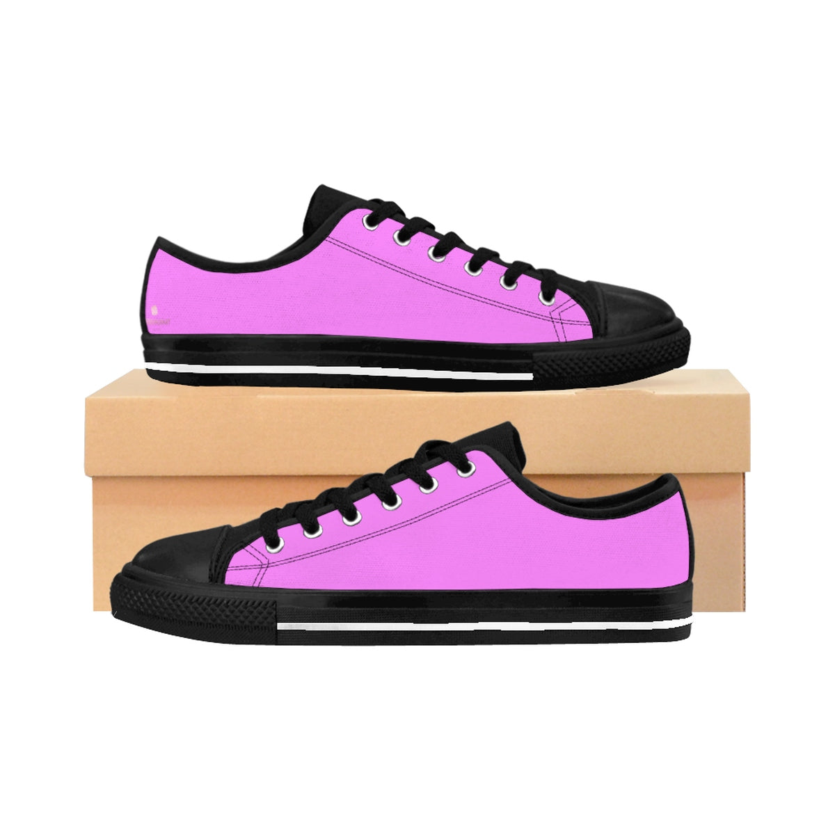 Pink Cotton Candy Solid Color Designer Low Top Women's Sneakers (US Size: 6-12)-Women's Low Top Sneakers-US 10-Heidi Kimura Art LLC