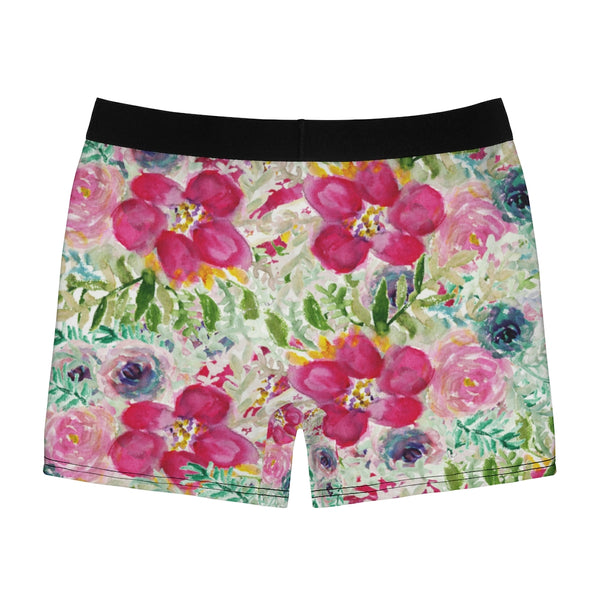 Floral Print Men's Underwear, Best Flower Designer Boxer Briefs-All Over Prints-Printify-Heidi Kimura Art LLC