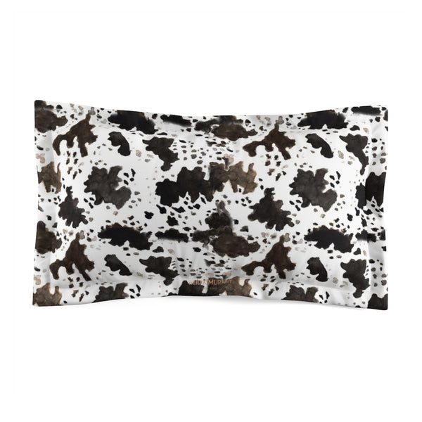 Cow Print Lightweight Woven Microfiber Pillow Sham, Standard/King Size, Made in USA (Sizes: King/Standard)-Pillow Sham-King-Heidi Kimura Art LLC Cow Print Pillow Sham, Cow Print Lightweight Woven Microfiber Pillow Sham With Envelope Closure, Standard/King Size, Made in USA (Sizes: King/Standard)