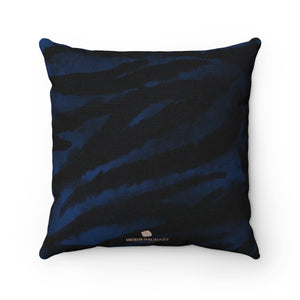"Blue Tiger Stripe Print Pillow, Animal Print Sofa Decorative Pillow 14""/16""/18""/20""-Made in USA-Pillow-14x14-Heidi Kimura Art LLC"