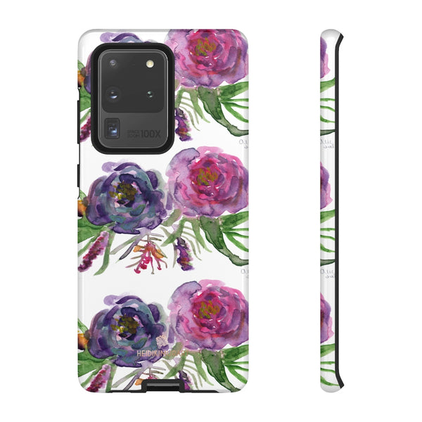 Pink Floral Print Phone Case, Roses Tough Designer Phone Case -Made in USA-Phone Case-Printify-Samsung Galaxy S20 Ultra-Glossy-Heidi Kimura Art LLC