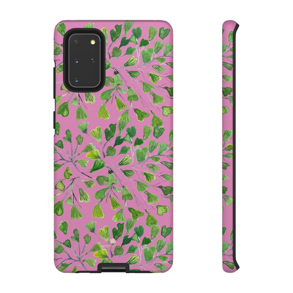 Blue Maidenhair Fern Tough Cases, Green Leaf Print Phone Case-Made in USA-Phone Case-Printify-Samsung Galaxy S20+-Matte-Heidi Kimura Art LLC