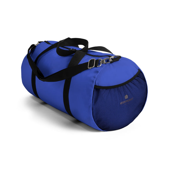 Violet Blue Solid Color All Day Small Or Large Size Duffel Bag, Made in USA-Duffel Bag-Heidi Kimura Art LLC