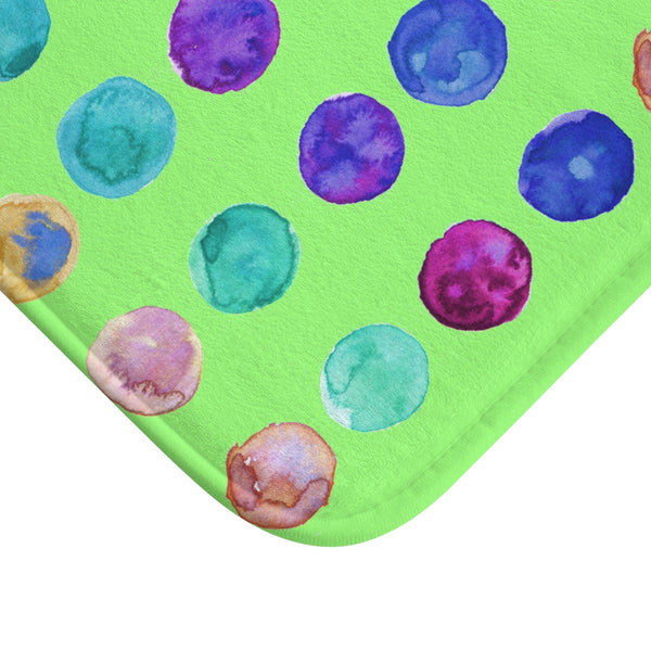 "Polka Dot Colorful Dots Cute Anti-Slip Microfiber 34""x21"", 24""x17"" Bath Mat-Bath Mat-Heidi Kimura Art LLC"