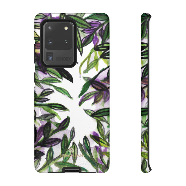 Tropical Leave Print Tough Cases, Designer Phone Case-Made in USA-Phone Case-Printify-Samsung Galaxy S20 Ultra-Matte-Heidi Kimura Art LLC