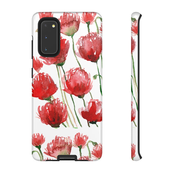 Red Tulips Floral Tough Cases, Roses Flower Print Best Designer Phone Case-Made in USA-Phone Case-Printify-Samsung Galaxy S20-Glossy-Heidi Kimura Art LLC