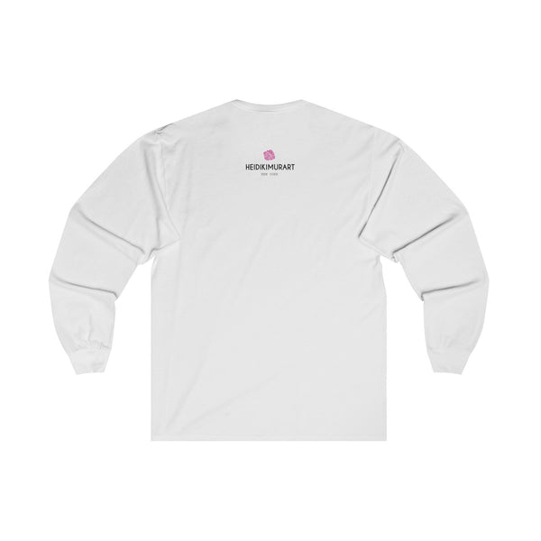 "Unisex Long Sleeve Tee w/""Always Trust Your Gut"" Invitational Quote -Made in USA-Long-sleeve-Heidi Kimura Art LLC"