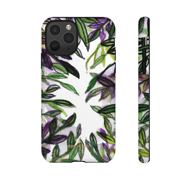 Tropical Leave Print Tough Cases, Designer Phone Case-Made in USA-Phone Case-Printify-iPhone 11 Pro-Matte-Heidi Kimura Art LLC