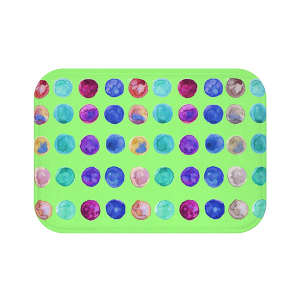 "Polka Dot Colorful Dots Cute Anti-Slip Microfiber 34""x21"", 24""x17"" Bath Mat-Bath Mat-Small 24x17-Heidi Kimura Art LLC"