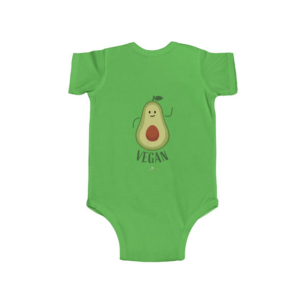 Avocado Baby Unisex Cotton Bodysuit, Infant Fine Jersey Regular Fit Clothes- Made in UK-Infant Short Sleeve Bodysuit-Heidi Kimura Art LLC