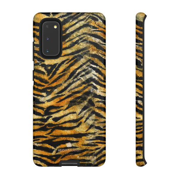 Orange Tiger Striped Phone Case, Animal Print Tough Cases, Designer Phone Case-Made in USA-Phone Case-Printify-Samsung Galaxy S20-Glossy-Heidi Kimura Art LLC