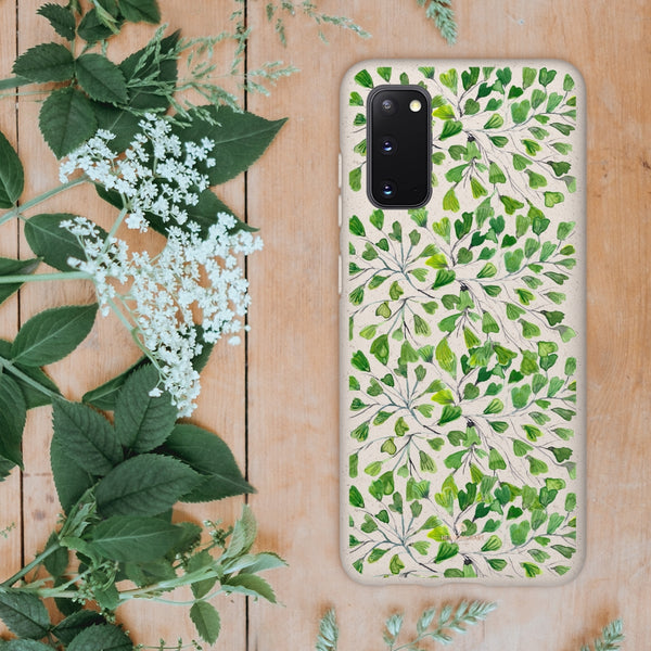 Green Clover Leaf Biodegradable Case, Eco-Friendly Compostable Slim Lightweight Phone Case-Phone Case-Printify-Heidi Kimura Art LLC