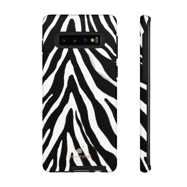 Zebra Stripe Phone Case, Animal Print Tough Designer Phone Case -Made in USA-Phone Case-Printify-Samsung Galaxy S10-Glossy-Heidi Kimura Art LLC