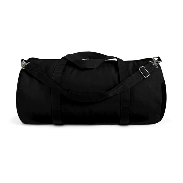 "Black Solid Color All Day Small 20"" Long Or Large Size 23"" Long Duffel Bag-Duffel Bag-Small-Heidi Kimura Art LLC"