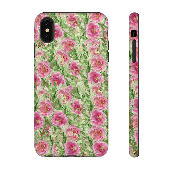 Garden Rose Phone Case, Roses Floral Print Tough Designer Phone Case -Made in USA-Phone Case-Printify-iPhone XS MAX-Glossy-Heidi Kimura Art LLC