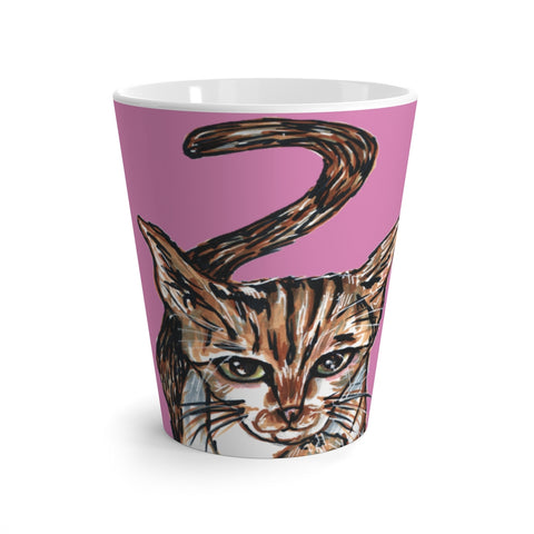Pink Cat Mugs, Cute Cat 12 oz Latte Mug, Peanut Meow Cat Best White Ceramic Coffee Cup, Ceramic Latte Mug, Microwave-Safe, Dishwasher-Safe Tea Coffee Cup -Printed in USA, Cat Coffee Mug, Best Cat Mugs, Great Gifts For Cat Lovers