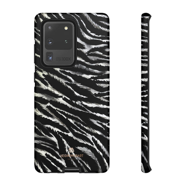 White Tiger Stripe Phone Case, Animal Print Tough Designer Phone Case -Made in USA-Phone Case-Printify-Samsung Galaxy S20 Ultra-Matte-Heidi Kimura Art LLC