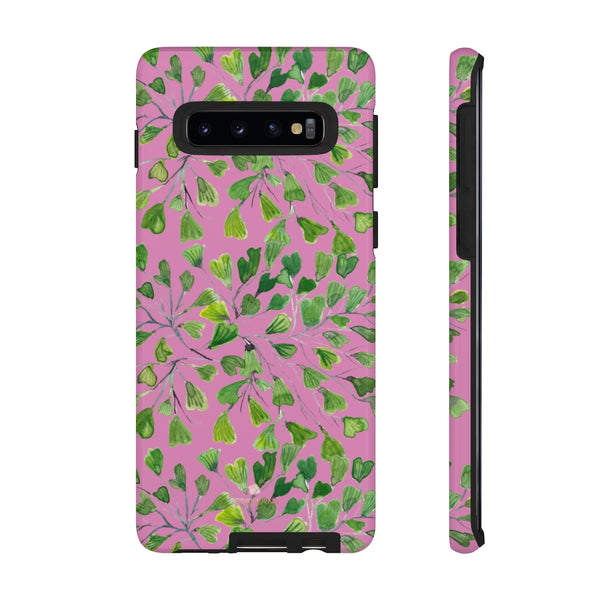 Blue Maidenhair Fern Tough Cases, Green Leaf Print Phone Case-Made in USA-Phone Case-Printify-Samsung Galaxy S10-Glossy-Heidi Kimura Art LLC