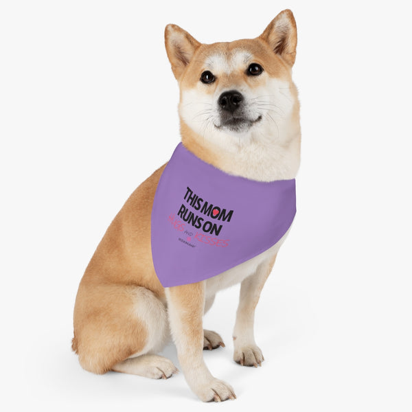 Purple Pet Bandana Collar, Mother's Day Special For Cat/ Dog Moms