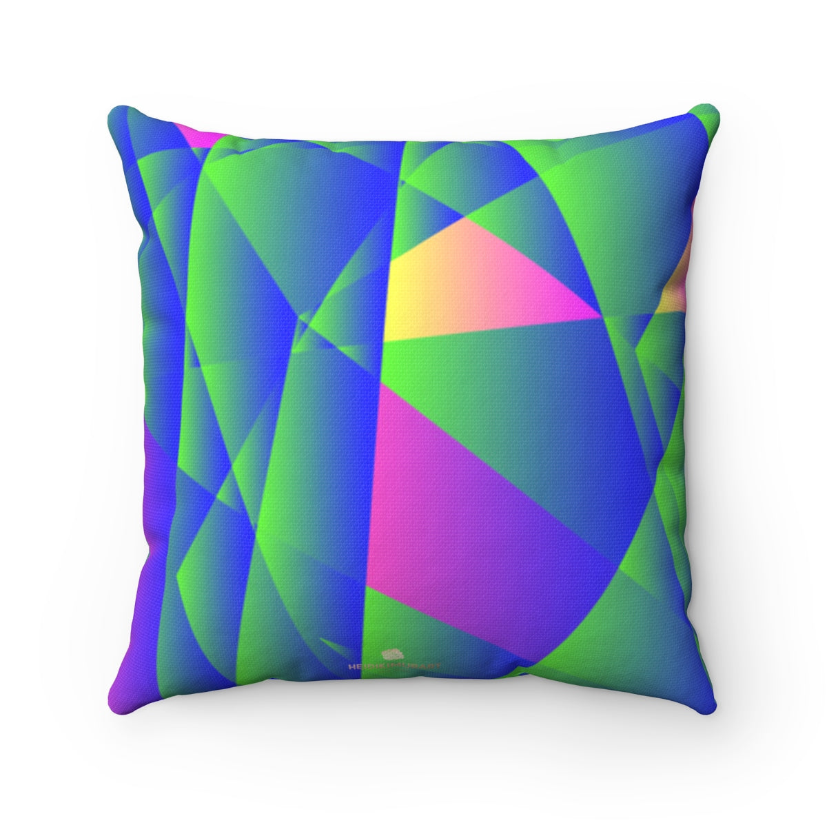 Geometric Diamond Purple Blue Print Pillow Spun Polyester Square Pillow- Made in USA - Heidi Kimura Art LLC