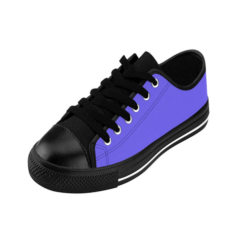 Deep Violet Sky Solid Color Designer Men's Running Low Top Sneakers Tennis Shoes-Men's Low Top Sneakers-Heidi Kimura Art LLC