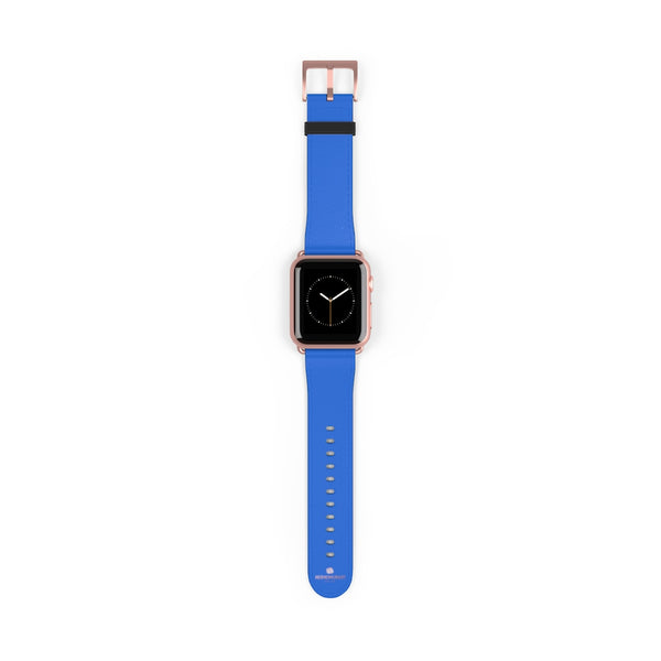 Blue Solid Color 38mm/42mm Watch Band Strap For Apple Watches- Made in USA-Watch Band-38 mm-Rose Gold Matte-Heidi Kimura Art LLC
