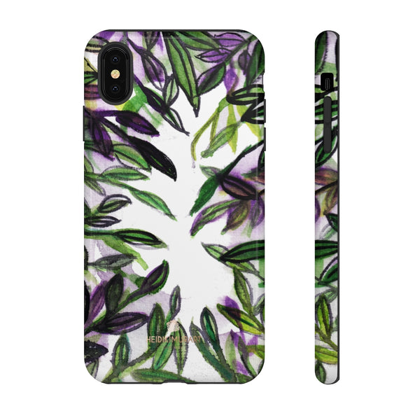 Tropical Leave Print Tough Cases, Designer Phone Case-Made in USA-Phone Case-Printify-iPhone XS MAX-Glossy-Heidi Kimura Art LLC