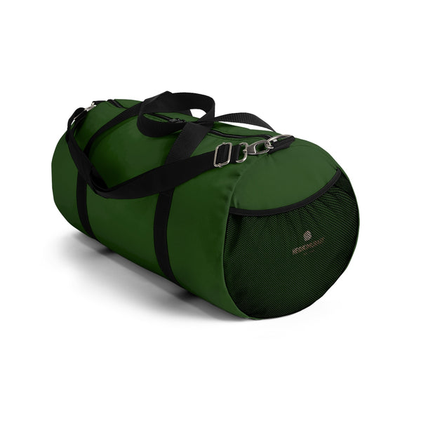 Emerald Green Solid Color All Day Small Or Large Size Duffel Bag, Made in USA-Duffel Bag-Heidi Kimura Art LLC