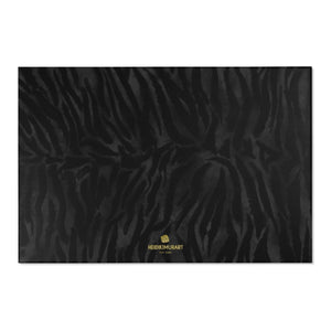 "Black Tiger Stripe Animal Print Designer 24x36, 36x60, 48x72 inches Area Rugs - Printed in USA-Area Rug-72"" x 48""-Heidi Kimura Art LLC Black Tiger Stripe Carpet, Black Tiger Stripe Animal Print Designer 24x36, 36x60, 48x72 inches Machine Washable Area Rugs/ Carpet-Printed in the USA"