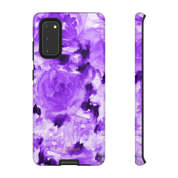 Purple Floral Rose Phone Case, Roses Floral Print Tough Designer Phone Case -Made in USA-Phone Case-Printify-Samsung Galaxy S20-Glossy-Heidi Kimura Art LLC