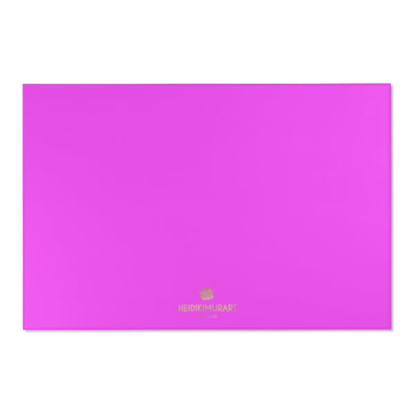 "Hot Pink Solid Color Designer 24x36, 36x60, 48x72 inches Area Rugs- Printed in the USA-Area Rug-72"" x 48""-Heidi Kimura Art LLC"