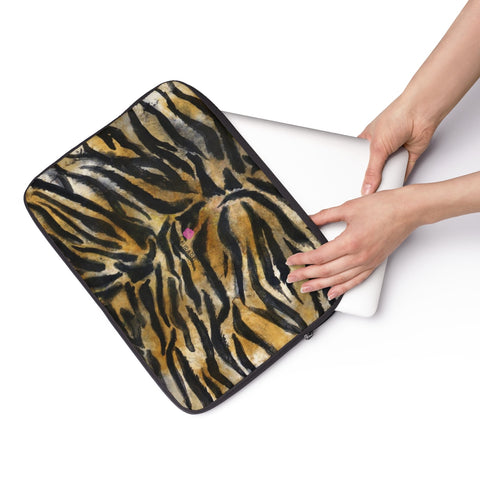 "Wild Big Cat Tiger Stripe Animal Print 12', 13"", 14"" Laptop Sleeve Cover-Made in the USA-Laptop Sleeve-Heidi Kimura Art LLC"