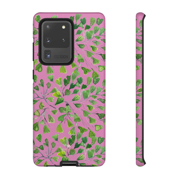 Blue Maidenhair Fern Tough Cases, Green Leaf Print Phone Case-Made in USA-Phone Case-Printify-Samsung Galaxy S20 Ultra-Matte-Heidi Kimura Art LLC