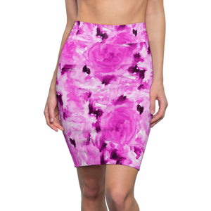 Pink Rose Floral Print Women's Comfy Stretchy Pencil Skirt-Made in USA(US Size: XS-2XL)Floral Pencil Skirt,Rose Print Skirt,Plus Size Skirt, Office Skirt,Abstract Print Skirt,Stretch Skit,Classic Skirt Pink Rose Floral Print Women's Comfy Stretchy Pencil Skirt-Made in USA(US Size: XS-2XL)Floral Pencil Skirt,Rose Print Skirt,Plus Size Skirt, Office Skirt,Abstract Print Skirt,Stretch Skit,Classic Skirt Pink Rose Floral Print Designer Women's Comfy Stretchy Pencil Skirt-Made in USA  (US Size: XS-2XL)