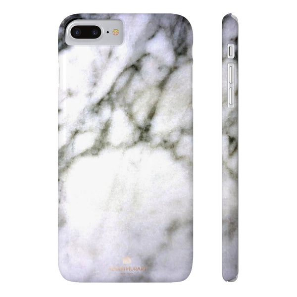 White Marble Print Case Mate Slim Phone Cases-Made in UK