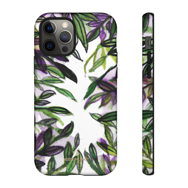 Tropical Leave Print Tough Cases, Designer Phone Case-Made in USA-Phone Case-Printify-iPhone 12 Pro-Matte-Heidi Kimura Art LLC