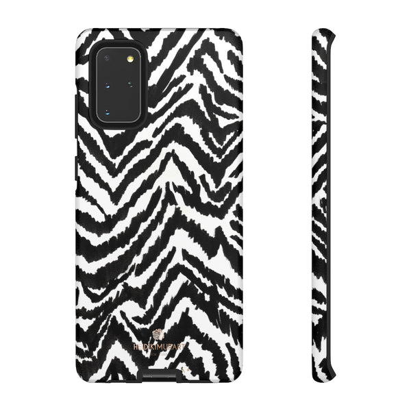 White Tiger Stripe Phone Case, Animal Print Best Tough Designer Phone Case -Made in USA-Phone Case-Printify-Samsung Galaxy S20+-Matte-Heidi Kimura Art LLC