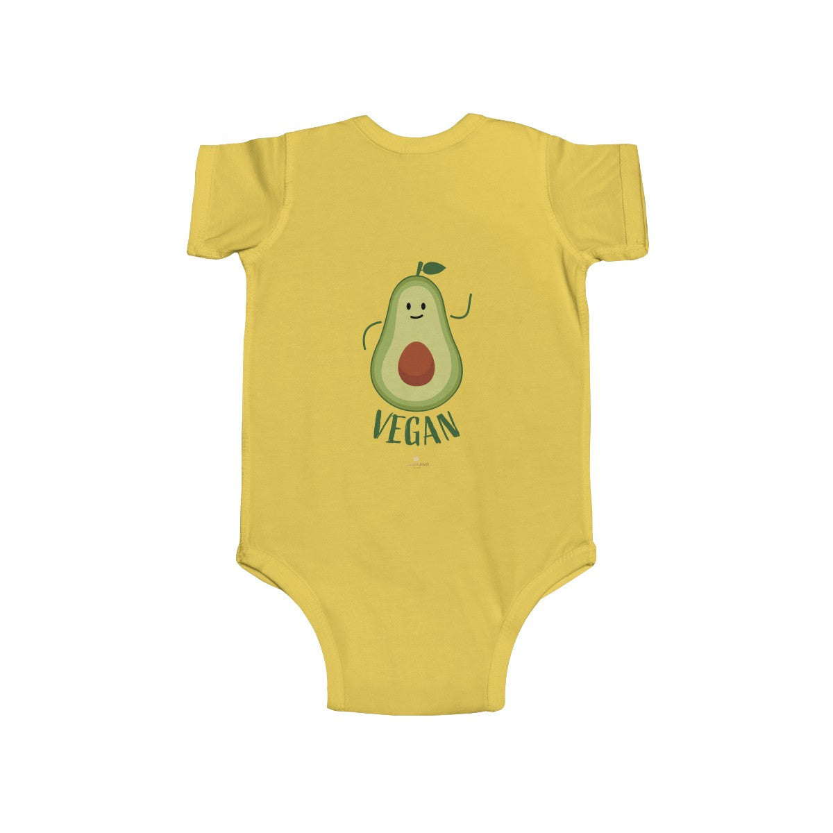 Avocado Baby Infant Fine Jersey Regular Fit Unisex Cute Cotton Bodysuit - Made in UK - Heidi Kimura Art LLC