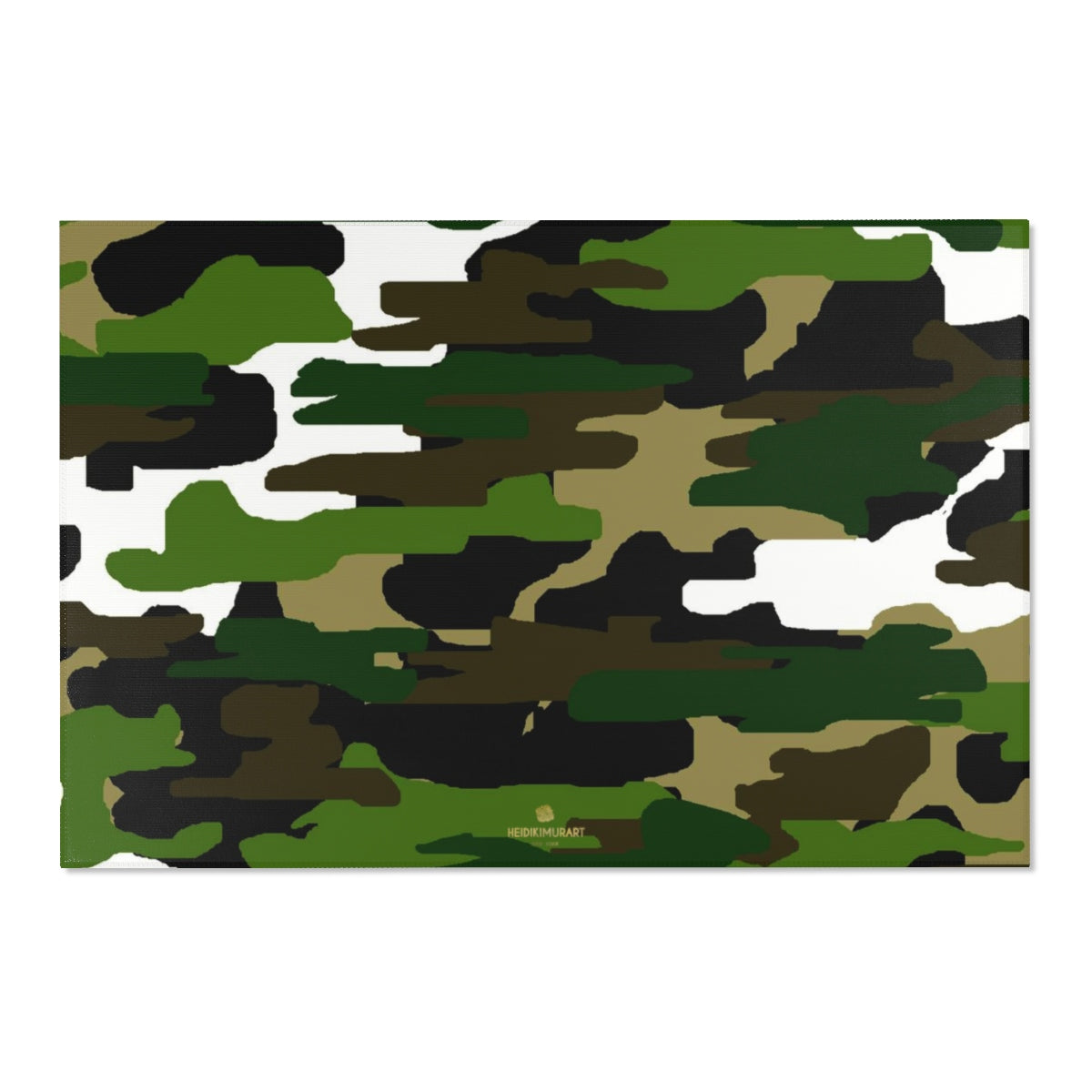 "Green Camouflage Military Army Print Designer 24x36, 36x60, 48x72 inches Area Rugs - Printed in USA-Area Rug-72"" x 48""-Heidi Kimura Art LLC"
