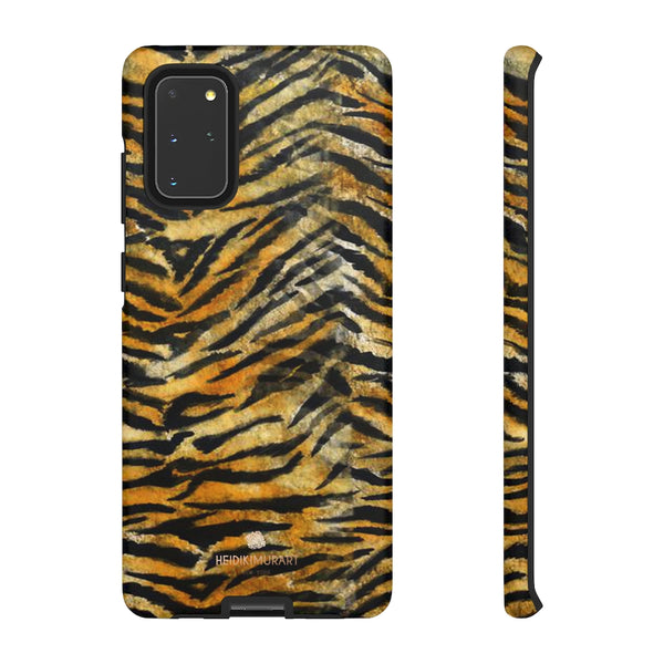 Orange Tiger Striped Phone Case, Animal Print Tough Cases, Designer Phone Case-Made in USA-Phone Case-Printify-Samsung Galaxy S20+-Matte-Heidi Kimura Art LLC