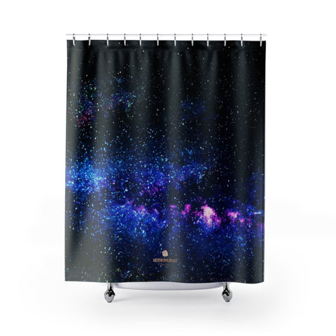 Dark Mysterious Galaxy Shower Curtains- Made in USA,Space Shower Curtain, Galaxy Curtain, Abstract Curtain, Galaxy Curtains, Galaxy Bathroom Dark Mysterious Galaxy Universe Print  Designer Polyester Large 100% 71x74 inches Shower Curtains- Made in USA